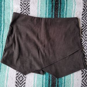 Black corduroy mini skort large bnwot